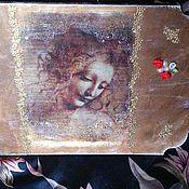 """Картины и панно ручной работы. Ярмарка Мастеров - ручная работа панно """"девушка"""". Handmade."""
