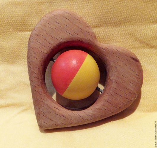 Развивающие игрушки ручной работы. Ярмарка Мастеров - ручная работа. Купить Погремушка деревянная Я тебя люблю Деревянная игрушка. Handmade.