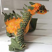 Куклы и игрушки ручной работы. Ярмарка Мастеров - ручная работа Большой тыквенный дракон. Handmade.
