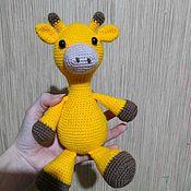 Мягкие игрушки ручной работы. Ярмарка Мастеров - ручная работа Жираф, вязаная игрушка. Handmade.