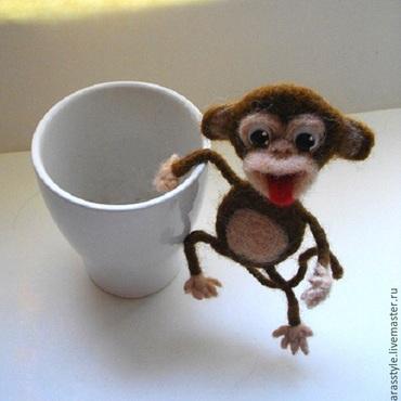 Куклы и игрушки ручной работы. Ярмарка Мастеров - ручная работа Веселая обезьянка. Handmade.