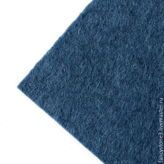 Другие виды рукоделия ручной работы. Ярмарка Мастеров - ручная работа. Купить Фетр 2мм для вышивки, смесовый, Испания, 30х22,5см синий. Handmade.