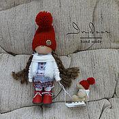 Тыквоголовка ручной работы. Ярмарка Мастеров - ручная работа Эйвери. Интерьерная текстильная кукла. Handmade.
