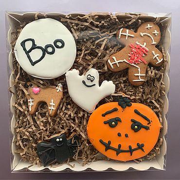 Сувениры и подарки ручной работы. Ярмарка Мастеров - ручная работа Пряничный набор «Хеллоуин». Handmade.