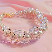 Украшения handmade. Livemaster - original item Bracelet pink pearls. Handmade.