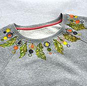 Одежда ручной работы. Ярмарка Мастеров - ручная работа Свитшот с росписью. Handmade.
