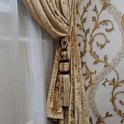 Для дома и интерьера ручной работы. Ярмарка Мастеров - ручная работа Золотые портьеры из бархата. Handmade.