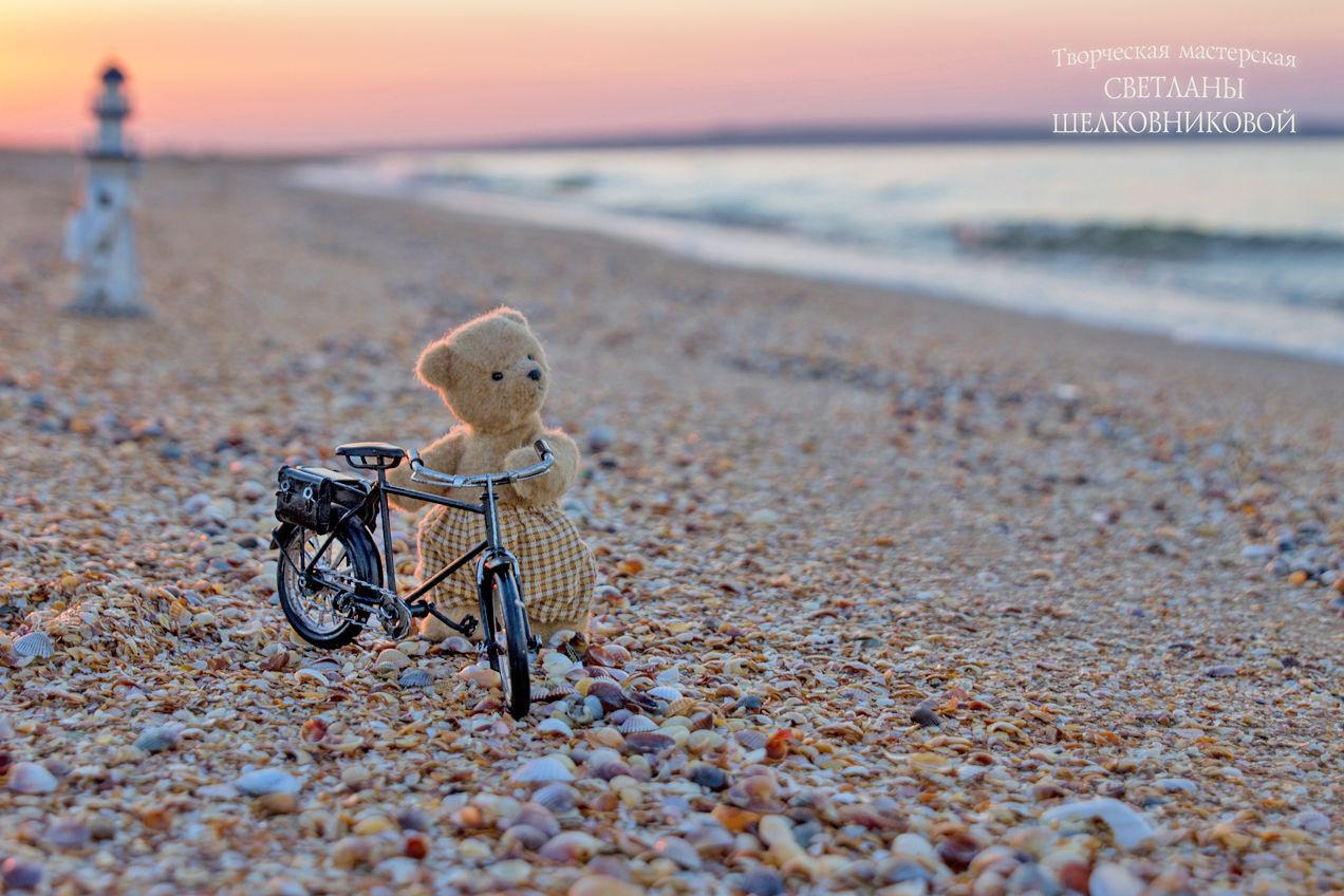 mini teddy bear teddy bear lukas 12cm. the teddy bear is completely handmade. Teddys made by Svetlana Shelkovnikova