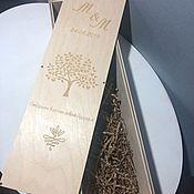 Подарочные коробки ручной работы. Ярмарка Мастеров - ручная работа Короб для винной церемонии. Handmade.