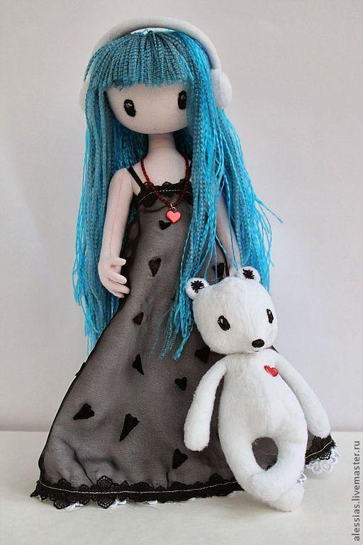 Коллекционные куклы ручной работы. Ярмарка Мастеров - ручная работа. Купить Девочка и мишка - авторская работа по картинке С. Вулкотт, вариант 2. Handmade.