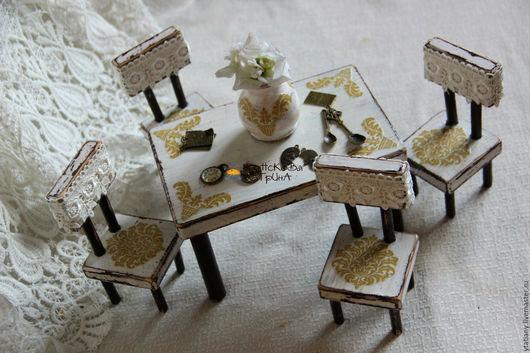 """Кукольный дом ручной работы. Ярмарка Мастеров - ручная работа. Купить Набор мебели """"Винтаж"""". Handmade. Для кукол"""