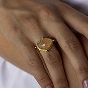 Украшения handmade. Livemaster - original item Compass II ring silver, moonstone, cubic zirconia, gilding. Handmade.