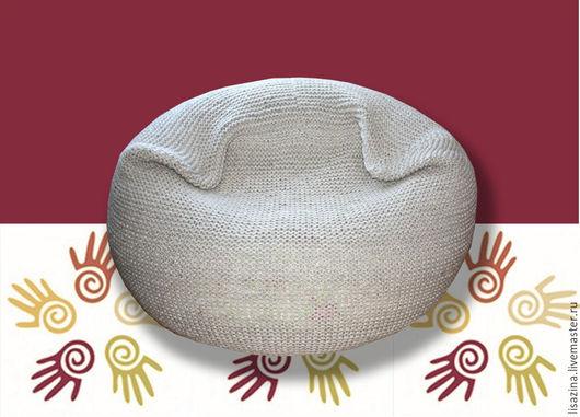 Мебель ручной работы. Ярмарка Мастеров - ручная работа. Купить Чехол на бескаркасное кресло-мешок. Handmade. Бежевый, чехол, интерьер