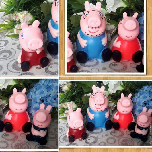 """Материалы для косметики ручной работы. Ярмарка Мастеров - ручная работа. Купить 3D Силиконовая форма для мыла  """"Свинка Пеппа"""". Handmade."""