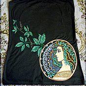 """Одежда ручной работы. Ярмарка Мастеров - ручная работа Майка """"Дикий виноград"""". Handmade."""