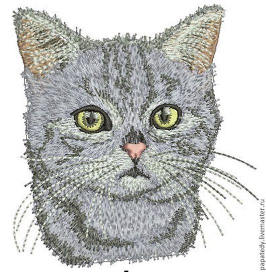Вышивка ручной работы. Ярмарка Мастеров - ручная работа. Купить котик  дизайн для машинной вышивки. Handmade. Подарок для ребенка
