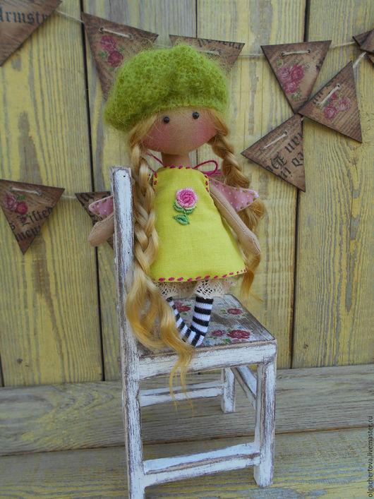 Коллекционные куклы ручной работы. Ярмарка Мастеров - ручная работа. Купить Ангелочек 14 см в сумочке ( с подушкой и одеялом). Handmade.