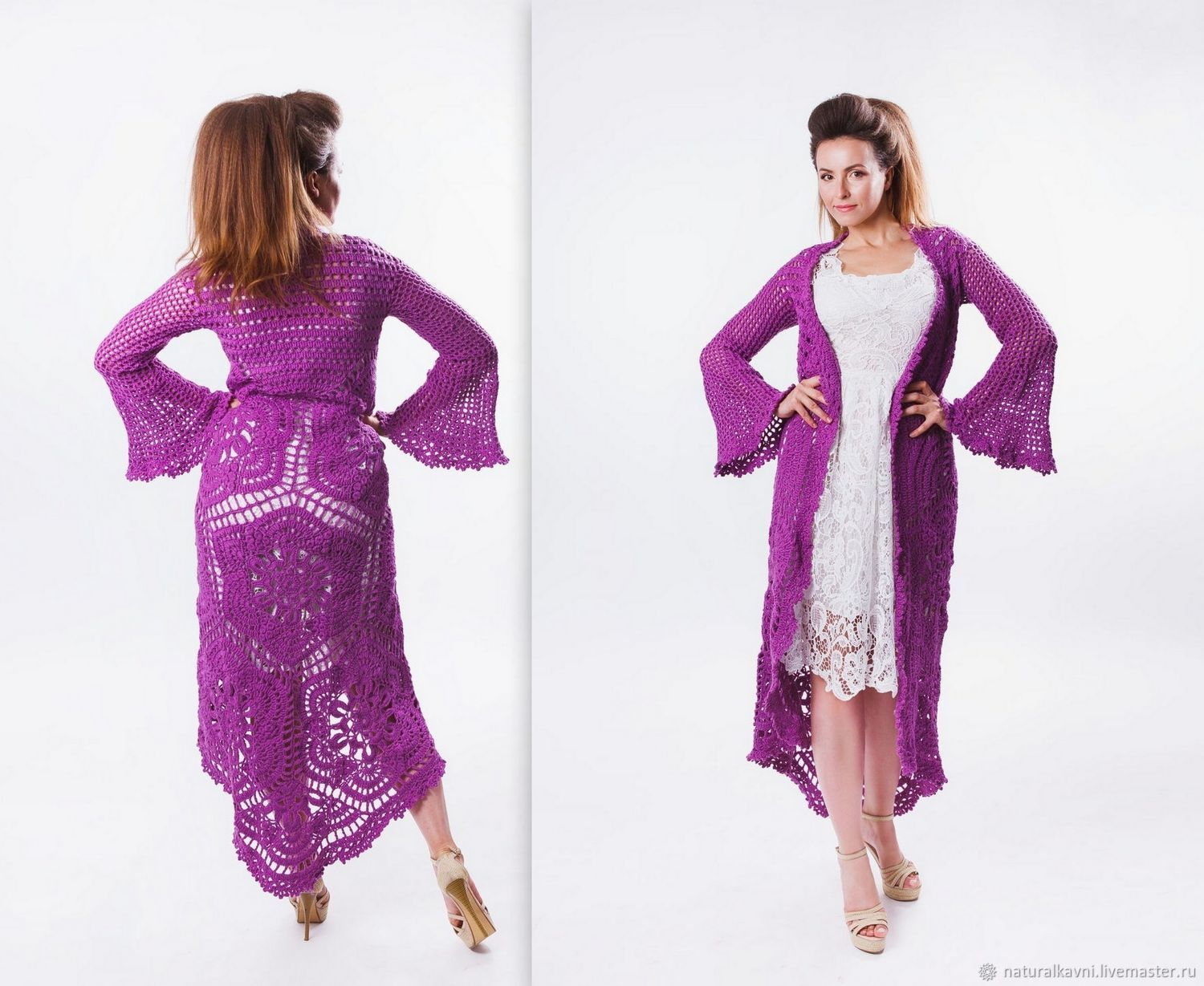 Handmade author's cardigan crocheted, Cardigans, Moscow,  Фото №1