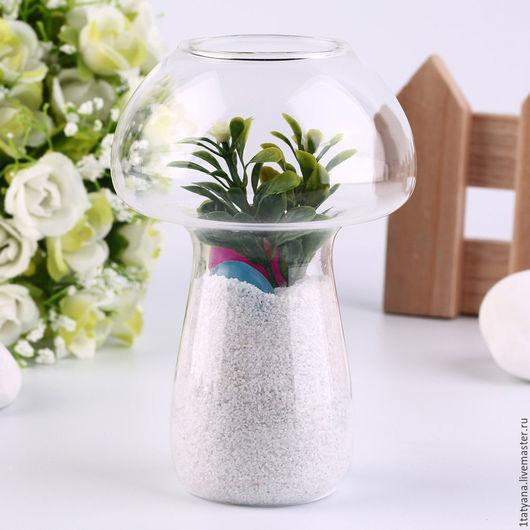 Материалы для флористики ручной работы. Ярмарка Мастеров - ручная работа. Купить Стеклянная ваза в форме гриба. Handmade. Стекло
