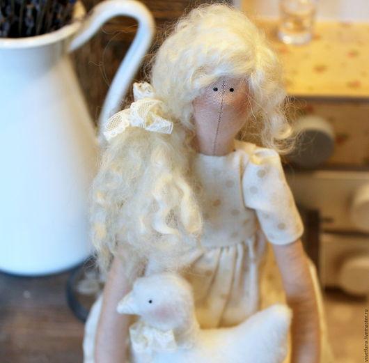 Куклы Тильды ручной работы. Ярмарка Мастеров - ручная работа. Купить Одуванчик. Handmade. Бежевый, кукла ручной работы, флис
