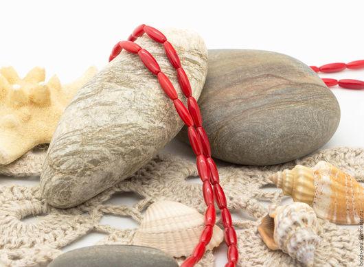 Для украшений ручной работы. Ярмарка Мастеров - ручная работа. Купить Коралл красный бусины рисинки - арт.6-04. Handmade.
