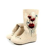 Обувь ручной работы handmade. Livemaster - original item Felted socks handmade. Handmade.