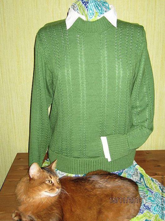 """Кофты и свитера ручной работы. Ярмарка Мастеров - ручная работа. Купить Джемпер """"Зелёнка"""". Handmade. Зеленый, мягкий, универсальный"""