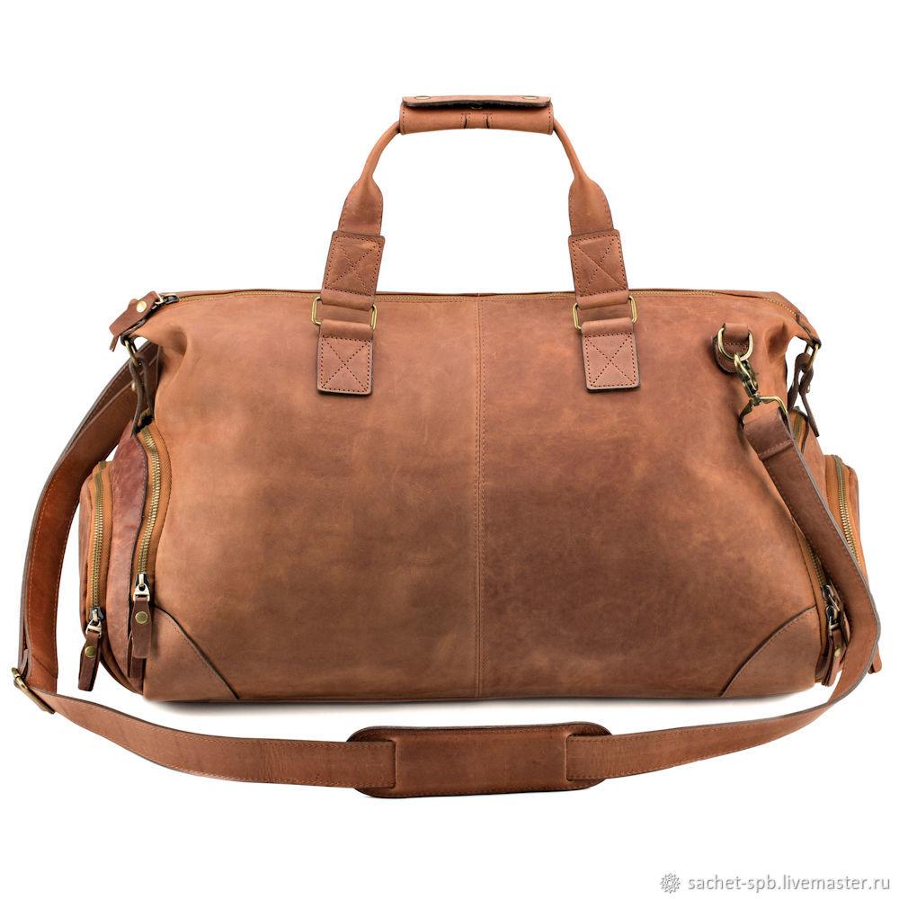 Leather travel bag 'Carcassonne '(brown crazy), Travel bag, St. Petersburg,  Фото №1