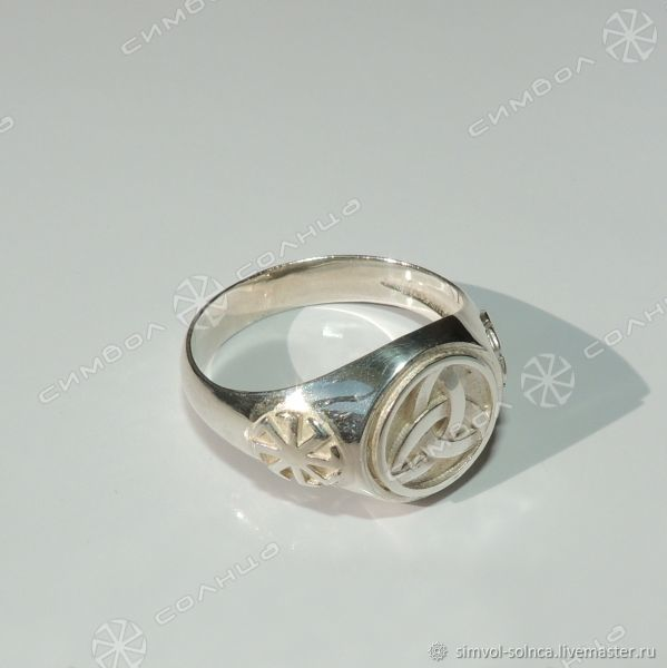 Ring, ring, signet Triglav with rotifers, Folk decorations, Sochi,  Фото №1