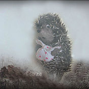 Куклы и игрушки ручной работы. Ярмарка Мастеров - ручная работа Ёжик в тумане. Handmade.