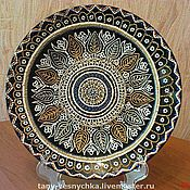 Посуда handmade. Livemaster - original item Decorative plate