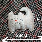 Мягкие игрушки ручной работы. Ярмарка Мастеров - ручная работа Игрушка - подушка - кот. Handmade.