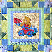 Для дома и интерьера handmade. Livemaster - original item Patchwork baby blanket with bears. Handmade.
