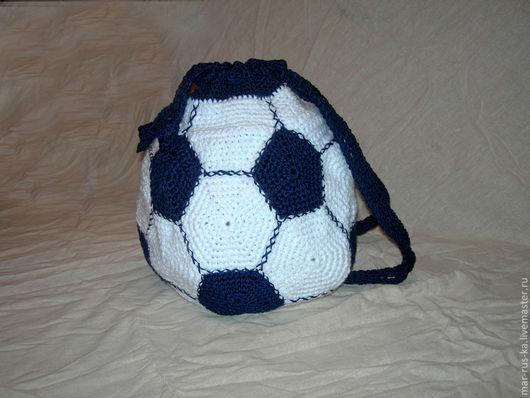 Рюкзаки ручной работы. Ярмарка Мастеров - ручная работа. Купить Рюкзак/мешок для обуви. Handmade. Орнамент, сумка вязаная, рюкзачок, хлопок