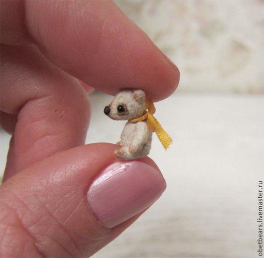 Мишки Тедди ручной работы. Ярмарка Мастеров - ручная работа. Купить Белый мух,  1,6 см.. Handmade. Белый