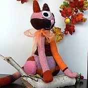 """Мягкие игрушки ручной работы. Ярмарка Мастеров - ручная работа Авторская игрушка """"Вязаный котейка"""" большой. Handmade."""