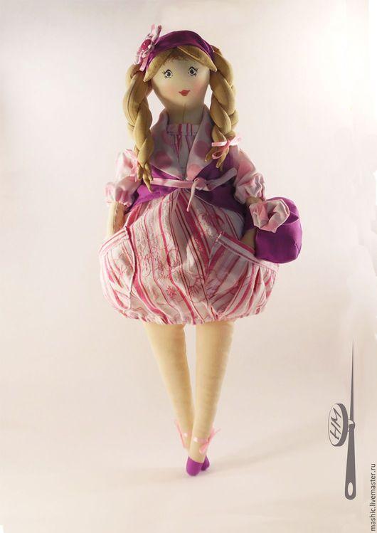 Коллекционные куклы ручной работы. Ярмарка Мастеров - ручная работа. Купить Текстильная кукла Пампуша-Манюша. Handmade. Розовый
