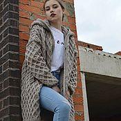 Одежда handmade. Livemaster - original item Knitted coat with big hood. Handmade.