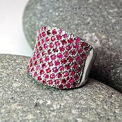 """Украшения ручной работы. Ярмарка Мастеров - ручная работа """"Foundation garment"""" кольцо серебро 925 с рубинами. Handmade."""