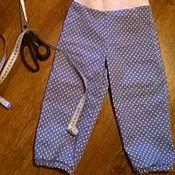Работы для детей, ручной работы. Ярмарка Мастеров - ручная работа Голубые джинсы в горошек. Handmade.