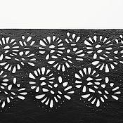 Одежда handmade. Livemaster - original item Sheath dress with lace leather. Handmade.