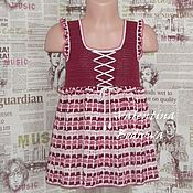 Платья ручной работы. Ярмарка Мастеров - ручная работа Платье вязанное крючком для девочки. Handmade.