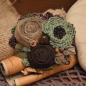 "handmade. Livemaster - original item Textile brooch ""Olive"". Handmade."