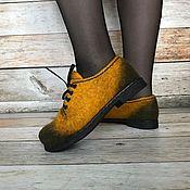 """Обувь ручной работы. Ярмарка Мастеров - ручная работа Туфли валяные """"Винтаж 3"""". Handmade."""