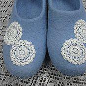 """Обувь ручной работы. Ярмарка Мастеров - ручная работа """"Кружева"""" валяные тапки. Handmade."""