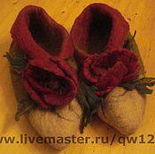 Обувь ручной работы. Ярмарка Мастеров - ручная работа тапочки женские. Handmade.
