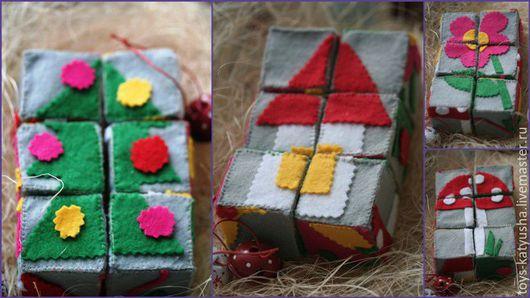 Развивающие игрушки ручной работы. Ярмарка Мастеров - ручная работа. Купить Набор кубиков. Handmade. Разноцветный, подарок на день рождения