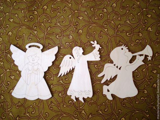 Декупаж и роспись ручной работы. Ярмарка Мастеров - ручная работа. Купить Ангелочки,подвески на елку. Handmade. Ангел, новогоднее украшение