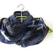 """Аксессуары ручной работы. Ярмарка Мастеров - ручная работа Снуд мужской валяный шарф унисекс """"Баловень)"""" мужской войлочный шарф. Handmade."""