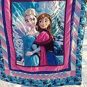 Для дома и интерьера ручной работы. Ярмарка Мастеров - ручная работа Лоскутное одеяло для девочки лоскутный плед. Handmade.